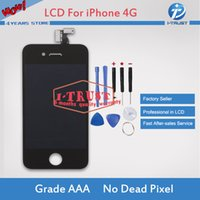 Wholesale Iphone 4s Lcd Screens - Grade A+++ Quality For iPhone 4S LCD Touch Screen Digitizer Good Repair Replacement Parts & Free Repair Tools &Free Shipping
