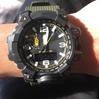 Wholesale waterproof drop boxes online - 2018 AAA Drop shipping Top quality GWG1000 brand men G sports digital LED watch and shock and waterproof with box