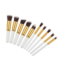 Wholesale facial brush set - In stock 10pcs set brushes set Professional Soft Cosmetic Facial Make up Brush Set Kit makeup set