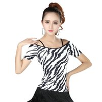 Wholesale Latin Dance Wear Top - Stage Wear Latin 1 Pc Newest Latin Top Dance Practice Clothes Modern National Standard Dance Practice Clothing Long Short Sleeves