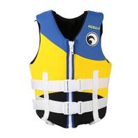 yüzdürme yelek toptan satış-Çocuklar Can Yeleği Çocuklar için Neopren Can Yeleği Yüzen Ceket Kürek Tekneler Sürüklenen Sörf Yüzme Yelek
