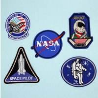 Wholesale Wholesale Embroidered Jeans - Spaceman Embroidered Patch for Clothing Iron Sewing Applique Clothes Stickers Badge Jeans Jackets Decoration DIY Patches