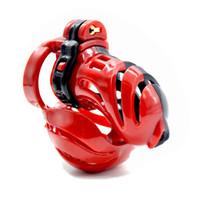 bola de castidad masculina al por mayor-Nuevo Dispositivo de Castidad Masculina Pelota Camilla Diseño 3D Jaula de Gallo Cinturón de Castidad Pene de Bloqueo de Pene Anillo Juguetes Adultos Juguetes Sexuales