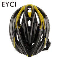 casco de montaña amarillo al por mayor-Ciclismo Mountain Bike Racing Casco amarillo Unisex Mujeres adultas Safety Carbon Nuevo