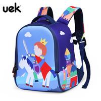 Wholesale princes bags - UEK Waterproof Prince Princess School Bags For Boy Girls Kids Backpack Children Backpack Toddler Baby Bag Kindergarten Christmas