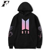 Wholesale hit clothing - 2018 BTS LOVE YOURSELF hit hop cotton oversized Hoodies Sweatshirts Casual moletom Women men Korean tracksuit k pop Clothes