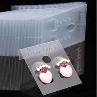 goujons de pendentifs achat en gros de-100pcs professionnel en plastique boucle d'oreille goujons d'affichage accrocher des cartes titulaire de bijoux en gros