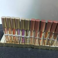 жидкие мерцающие тени для век оптовых-12шт / комплект новый макияж горячие жидкие тени для век Stila Shimmer / GlitterGlow 12 цветов 4.5 мл жидкие тени для век