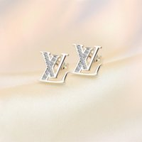 Wholesale Gifts For Friends Girls - Europe and America Hotsale Jewelry White Gold Plated AAA CZ Stud Earrings for Girls Women Nice Gift for Best Friend ER-1025