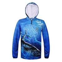 b9214fb0c56 Man   Woman Outdoor Sports Jacket Fishing Shirt zipper hooded Clothes  sunscreen breathable men quick dry fishing Climbing Shirt C18111401