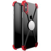 iphone tampon halka kılıfı toptan satış-X şekli halka tutucu kılıf için iphone x kişilik kabuk için iphone x case metal tampon için iphonex