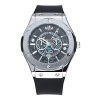 luxo relógio de ponta venda por atacado-Atacado de Quartzo Mens Relógios de Alta Qualidade Relógios De Pulso De Luxo high-end dos homens pulseira de Silicone Frete grátis para presente