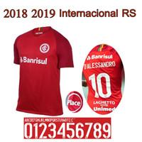 Wholesale rs 18 - 2018 2019 Internacional RS soccer jersey 18 19 Internacional home jersey N. LOPEZ N. PATRICK D.ALESSANDRO POTTKER Camisa football shirt
