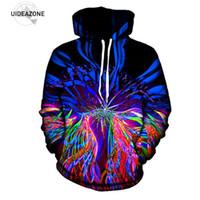 Wholesale Sublimation Clothes - Wholesale- UIDEAZONE New Psychedelic Hoodie Music Festival Light Show Trippy Clothes Raver Wear Art Print EDM Sublimation Hoodies Plus Size
