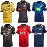 Wholesale Heat Jerseys - 2018 Blues Super Rugby Away Jersey New Zealand Super Rugby Union blues High-temperature heat transfer shirts size S-M-L-XL-XXL- 3XL