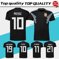 2018 world cup Argentina away Soccer Jersey Argentina  10 MESSI soccer shirt   21 DYBALA  19 KUN AGUERO away black Football uniforms sales 1f8e5c430