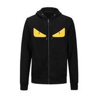 kadınlar için sarı sweatshirtler toptan satış-2018 Sonbahar Gelgit Marka Erkek Kadın Hoodies sevimli sarı gözler baskı Rahat hoody erkekler hip hop fermuar ceket yüksek kalite lüks tişörtü M-XXL