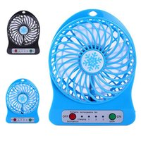 Wholesale cooling desk for laptop online - Top Sell Rechargeable LED Light Fan Air Cooler Mini Desk USB Battery Rechargeable Fan With Retail Package for PC Laptop Computer