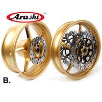 Wholesale front brake kits - Arashi For Triumph Street Triple 675 2007 - 2012 Front Rear Wheel Rim Kit Brake Disc Disk Rotor 2008 2009 2010 2011 675R R