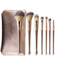 ingrosso set di spazzole zoreya-ZOREYA Fashion 8pcs Mermaid Makeup Brushes Set Portable Professional Nylon Hair Make up Set di pennelli