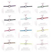 überlebensarmbänder großhandel-Mischen Sie Farbe 12 SURVIVOR Armbänder Handcraft Wunsch-Karten-Armband-Legierungs-Charme-Wachsseil-Schmucksachen, Dropshipping!
