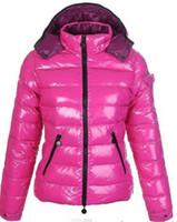aşağı kürk yaka toptan satış-Sıcak Marka Kadınlar Kış Casual Aşağı Ceket Aşağı Palto Bayan Açık Kürk Yaka Sıcak Tüy elbise Kış Coat dış giyim Ceketler