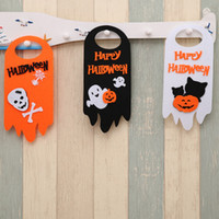 Wholesale halloween door decorations for sale - Group buy New DesignHallowmas cm Door Hanging Banners DIY Halloween Decoration Tag Window Skull Party Banners Decor Hotel Mall Ghost
