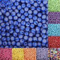ingrosso perline acriliche di halloween-Nuovo arrivo 500 pezzi / lotto 8 mm brillante lucido rotondo acrilico sciolto distanziatore perline fai da te per i risultati dei monili monili che fanno il braccialetto