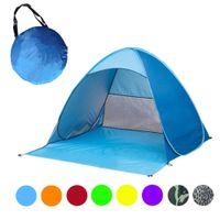 automatisches pop-up campingzelt großhandel-Automatische Schnell Errichtet Zelt Pop Up Tragbare Strand Baldachin Sonnenschutz Shelter Outdoor Angeln Zelt 190 150 * 165 * 100 Cm