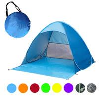 strandtöne kommen auf großhandel-Automatische Schnell Errichtete Camping Zelt Pop Up Tragbare Strand Baldachin Sonnenschutz Shelter Outdoor Angeln Zelt 190 150 * 165 * 100 Cm