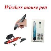 Wholesale pen optical - Wholesale Wireless pen Mouse 2.4G Wireless Mini Optical Pen Mouse Adjustable 500 1000DPI pen mouse 3 colors to choose Retail package