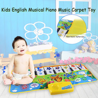 Wholesale musical play mats - Kids English Musical Piano Music Carpet Play Mat Educational Electronic Toy 2018 New Arrive Hight Quality