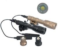 lanterna de picatinny rail venda por atacado-Tactical M600 M600V Scout Light Caça Lanterna Estroboscópica Para 20mm Tecelão Picatinny Rail Base