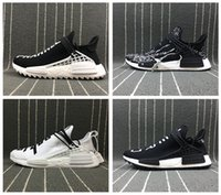 Wholesale Body Breathe - Top Quality NMD Human Race Trail Boost Pharrell PW Shark Camo Grey Clouds Moon Breathe Walk Body Earth Ultra Real Boost Sneakers FR40-45