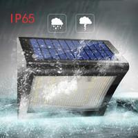 lámpara solar humana al por mayor-Luz solar 38LED IP65 Resistente al agua Sensor de cuerpo humano solar Lámpara de pared regulable PIR Camino de inducción humana Patio Lámpara de paisaje