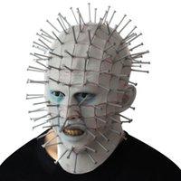 nagellackierung großhandel-1 stücke Halloween kreative nagel perücken horror geist jagen maske make-up maskerade requisiten
