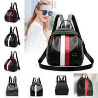 Wholesale Little Backpacks For Girls - 6 Styles Little Monster Pu Leather Schoolbag Backpack Devil Eyes Bag Travel Bag For Teenager Girl Boy Free DHL G153L