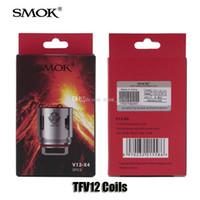 Wholesale t8 atomizer coil - 100% Original SMOK TFV12 Tank Coil Head V12-T12 Duodenary 0.12ohm V12-T6 V12-T8 0.16ohm V12-Q4 V12-X4 Atomizer Core Genuine Smoktech
