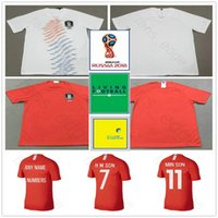 Wholesale shirt y - 2018 World Cup Home Away Soccer Jersey 7 H M SOM 11 MIN SON 16 S Y KI Customize Red White Football Shirt