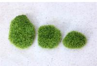 ingrosso paesaggio matrimonio-All'ingrosso- Miniature artificiali Moss Plant Long Plush Stone Micro paesaggistica Home Garden Decor Decorazione di nozze Craft Accessori fai da te