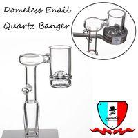 damping enail toptan satış-Enail Kuvars Banger fit 20mm bobin 10mm 14mm 19mm erkek / kadın için cilalı ortak set mini kaynar bardak dab rigs