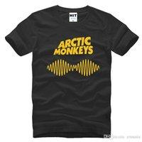 monos de roca al por mayor-El más nuevo Divertido Arctic Monkeys Rock Impreso Hombres Hombres Camiseta de la moda 2017 Nueva manga corta O cuello camiseta de algodón camiseta