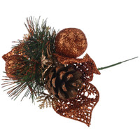 ingrosso ornamenti bar-1pcs 23cm Natale Pigne Bagattelle Hanging Xmas Party Ornament For Home Hotels Bar