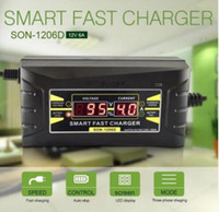 Wholesale Battery Charger Lcd Display - 12V 6A Smart Fast Car Battery Charger Intelligent Fast Power Charging Wet Dry Lead Acid Digital LCD Display KKA4858