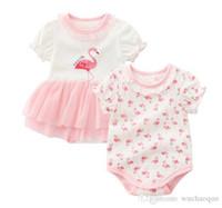 4t onesies al por mayor-La moda del verano del algodón bebé recién nacido ropa de bebé de los mamelucos del bebé bodies de una pieza infantil del mono Ropa de chicas Romper Bodies