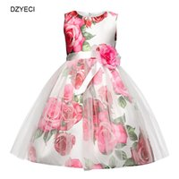 Wholesale Dresses For Ceremonies - Fancy Floral Dresses For Baby Girl Costume Easter Children Bridesmaid Ceremony Prom Wedding Frock Kid Flower Party Pageant Dress
