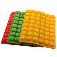 Wholesale Molds For Chocolates - 26 English Alphabet Chocolate Mold DIY Square Ice Lattice Silicone Molds For Home Baking Moulds High Quality 5 3am XB
