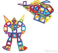 animais robô venda por atacado-36 PCS Blocos Magnéticos Etiqueta Da Instrução DIY Blocos Animais Robot Building Car Toy Educacional Para Crianças Ímãs Novidade Da Mordaça Brinquedos caixa