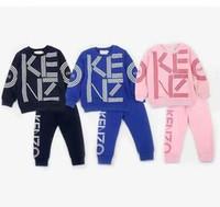 çocuklar için giyim giysileri toptan satış-Yeni Moda Chidren Çocuk Erkek Giyim Seti 2 Parça Kız Suits Güz Pamuk Bebek Giysileri Sonbahar Bahar Rahat Giysiler