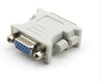 eu conecto venda por atacado-DVI DVI-I Masculino 24 + 5 24 + 1 Pinos para VGA Fêmea Video Converter Adapter Plug para DVD HDTV TV D LLFA